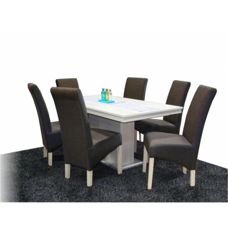 Dorina 6 személyes étkező Flóra asztallal